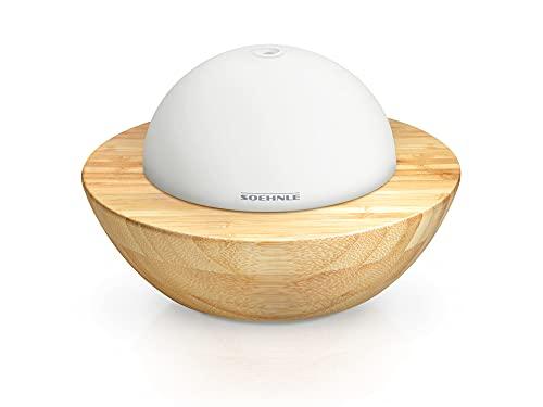 Soehnle Difusor de aromas Modena, ambientador eléctrico de bambú y cristal, ambientador para hogar con luces y con función...