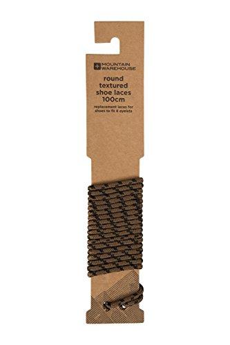Mountain Warehouse Runde, strukturierte Schnürsenkel - 100 cm, für die meisten Schuhe, rund, Schnürsenkel für Wanderschuhe, 8 Ösen - Ideal für Alltag, Trekking Braun