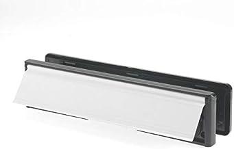 Yale YLP44-06/03-CP Letterplate/Letterbox, 300 mm, geschikt voor deuren van 38-78 mm, witte afwerking
