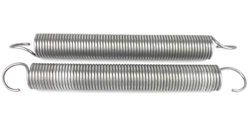 1 Paar Eckerttortechnik Garagentorfeder Zugfeder Drahtstärke 6,3mm Aüßendurchmesser 50mm Gesamtlänge 53,5 cm Zugleistung 150Kp