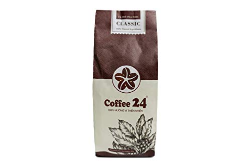 VietBeans Coffee24 CLASSIC – Hochwertige Kaffeebohnen aus Pleiku – Vietnamesischer Kaffee aus organischem Anbau – Mokka Kaffee Vietnam – 250g
