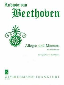 ALLEGRO + MENUETT - zaaranżowana na dwa flety poprzeczne [nuty/Sheetmusic] Komponist: BEETHOVEN LUDWIG VAN
