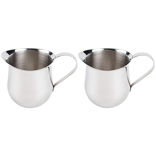 (2 Pack) 5-Ounce Stainless Steel Bell Creamer, 150 ml. Bell-Shaped Serving Cream Pitcher