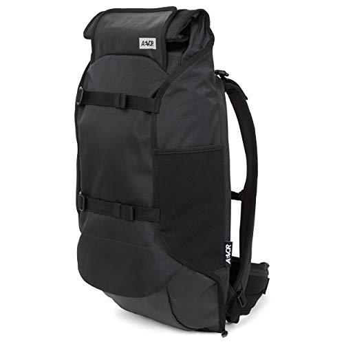 AEVOR Travel Pack - wasserfester Rucksack, erweiterbar, ergonomisch, Laptopfac - Proof Black - Black