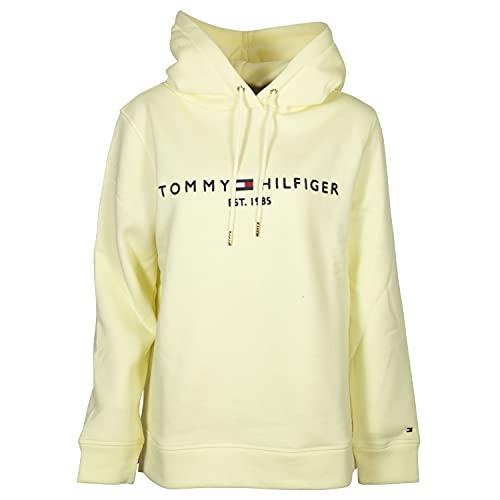 Tommy Hilfiger Damen Kapuzenpullover Regular Hilfiger Hoodie Frosted Lemon gelb - L