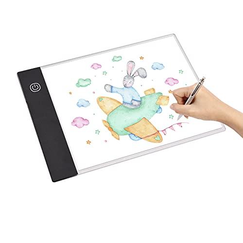 Dounan Light Pad,A5 LED Light Pad Tracer 3mm Tavolo da disegno ultrasottile Lavagna per appunti Oscuramento continuo Alimentato tramite USB per l animazione dell artista Progettazione