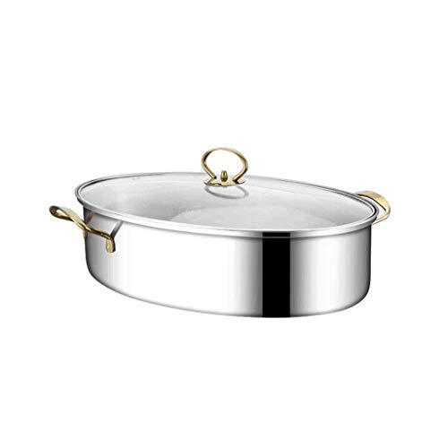 DZX Marmite de Cuisson à Vapeur de diamètre en Acier Inoxydable, cuiseur à Riz, Double chaudière, Pile, Soupe à la Vapeur, cuiseur à Riz à Cuisson Automatique