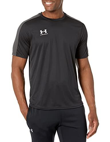 Under Armour Men's Challenger Training Top T-Shirt, Nero/Bianco (001), M Uomo
