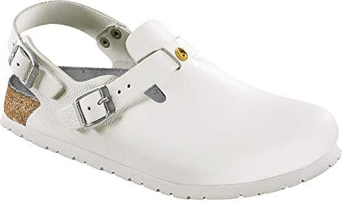 BIRKENSTOCK Professional Clog Tokio ESD weiß Leder Gr. 36-48 061410 + 061418, Größe + Weite:40 schmal