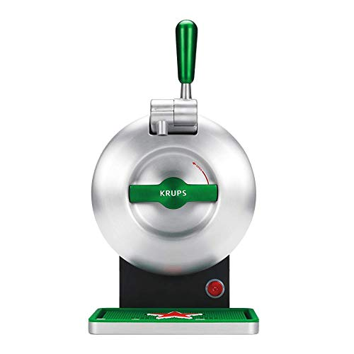 Krups The Sub Heineken VB650E10 - Beer shooter, 2 l fresh beer 15 days, up to 2º, energy efficiency A +, silent, ready-to-serve indicator, steel gray