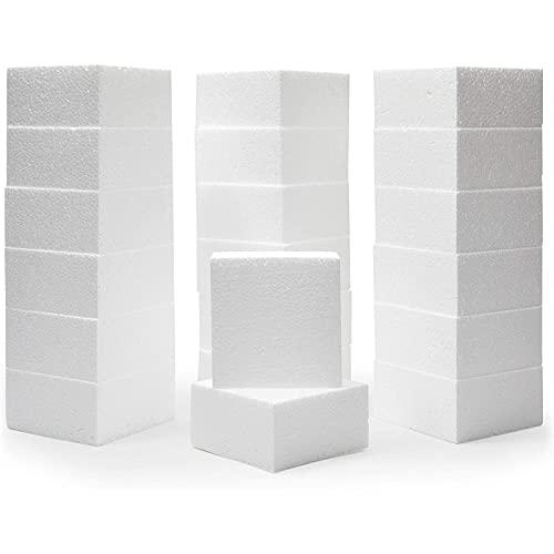 Cuadrados de Espuma, Suministros para artes y manualidades (Paquete de 20, de 10,2 cm x 10,2cm x 5,1 cm )