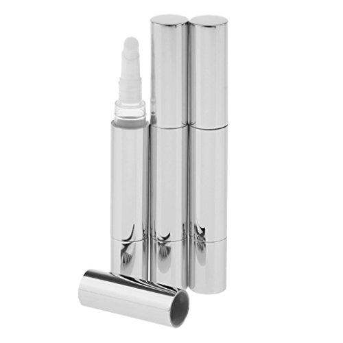 SDENSHI 3pcs 5ml Vide Brillant à Lèvres Pen Lip Cream Makeup Container Tubes - Argent