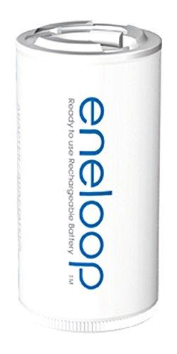 Eneloop Panasonic Adapter AA auf Baby C - 2er-Blister Weiß