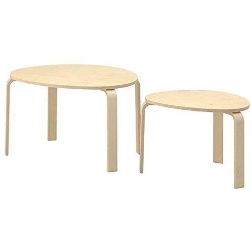 IKEA SVALSTA Nesting Tables, Set of 2, Birch Veneer 1826.26220.3026