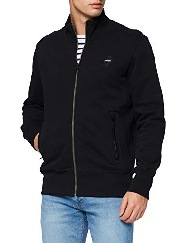 Superdry Mens Collective Track TOP BR Sweater, Black, Large