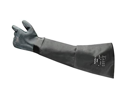 Ansell AlphaTec 19-026 Neoprenhandschuhe, Chemikalien- und Flüssigkeitsschutz, Schwarz, Größe 10 (1 Paar)