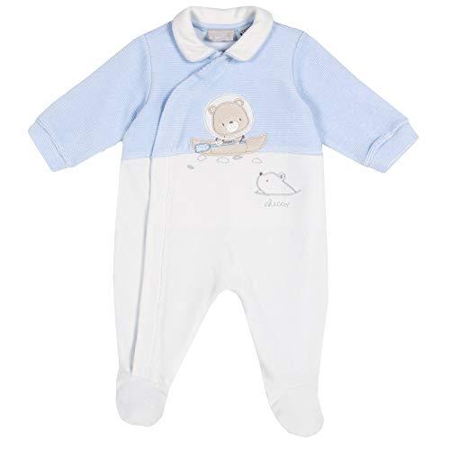 Chicco Tutina con Apertura Frontale Mamelucos para bebés y niños pequeños, Azzurro, 74