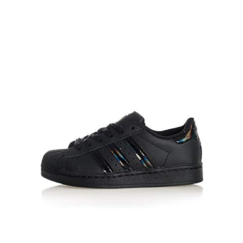 adidas Superstar C, Zapatillas de Gimnasio Unisex Niños, Core Black Core Black Core Black, 33 EU