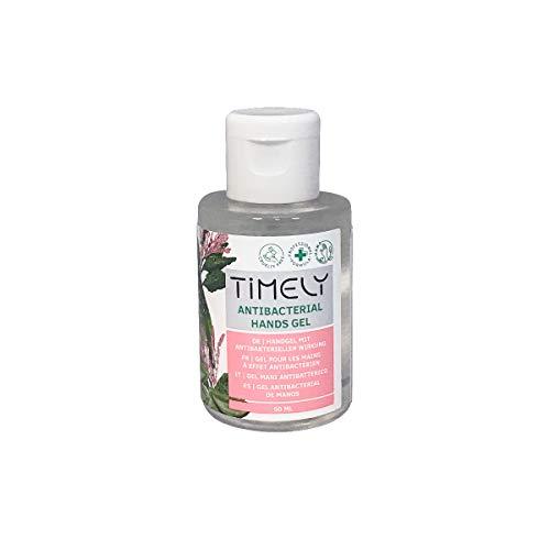 Timely Gel mani antibatterico con aloe, formato da viaggio, 50 ml