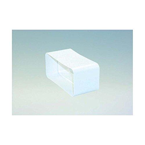 Verbindungsstück Muffe für Flachkanal/Vierkantrohr in Weiß für 150er Abluftsystem eckig Abluft