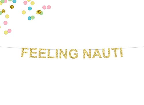 Gifts & Cards Glitter Banner, Feeling Nauti Banner, Nautical Wedding Banner, Bridal Shower, Nautical Bachelorette Party, Stagette, Nautical Beach Party Supplies