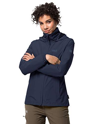 Jack Wolfskin Damen Stormy Point Jacket W atmungsaktive Regenjacke, Blau (midnight blau), M