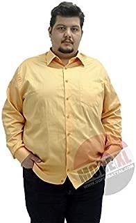 Mode XlBüyük Beden Erkek Klasik Uzun Kollu Pamuk Saten Gömlek Orj