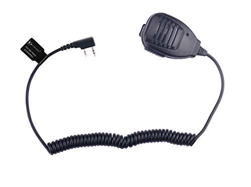 KS K-STORM Remote Shoulder Handheld Radio Speaker Microphone for 2 pin Kenwood Baofeng Walkie Talkie (Kenwood) -  KWSM001