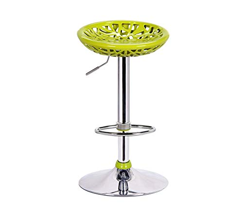 NMDCDH Taburete de Bar, Bar Fashion Tall Cafe Mostrador Respaldo Alto Woody Creative Tall Mostrador de Cocina Silla de Cocina Europea High 60~77cm Se Puede Girar, Simple (Color: Amarillo)