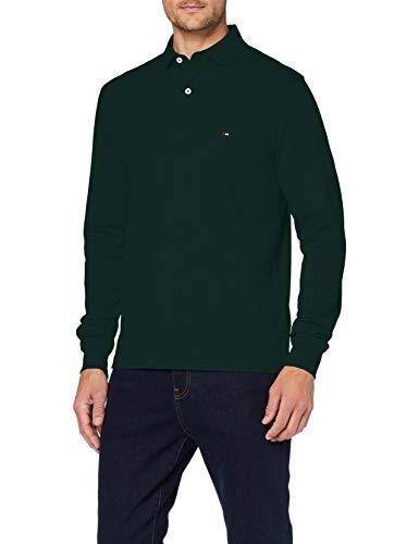 Tommy Hilfiger Tommy Regular Polo LS Camisa, Hunter, M para Hombre