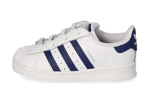 adidas Superstar EL, Sneaker Unisex bebé, Cloud White/Night Sky/Cloud White, 26 EU