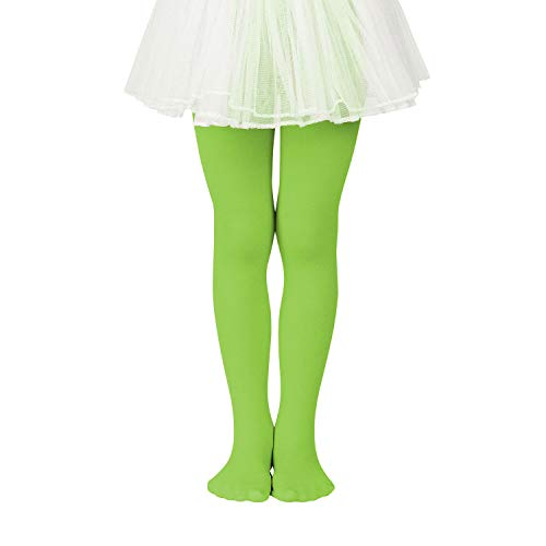 Zando Girls Stretchy Dance Tights Comfort Cotton Colorful Leggings Pants Elastic Ballet Footed Tight for Girl Light Green Small