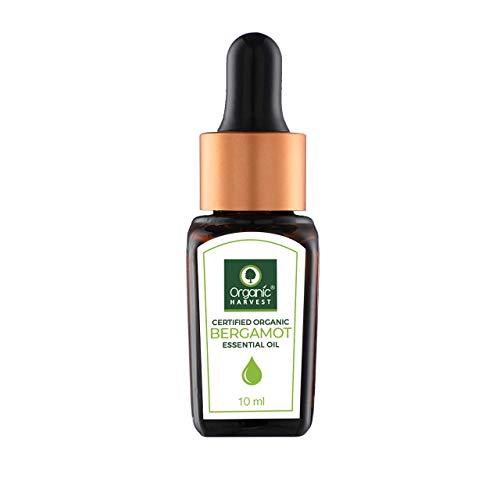 Organic Harvest Huile essentielle de bergamote Usda, Onecert, certifiée biologique, 100% pure, non diluée, de qualité thérapeutique, excellente pour l'aromathérapie, 1/3 fl. Oz / 10 Ml