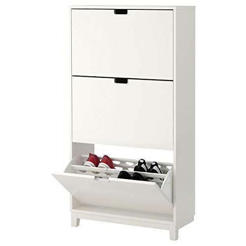 IKEA STÄLL zapatero con 3 compartimentos 79x29x148 cm, color blanco
