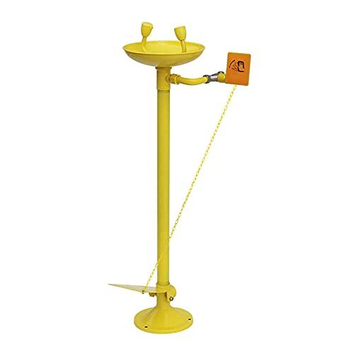 JL Lavaojos Vertical de Acero Inoxidable 304 Lavaojos Vertical de Doble Boca, con Pedal, Utilizado en Fábricas, Fundiciones y Otros Campos