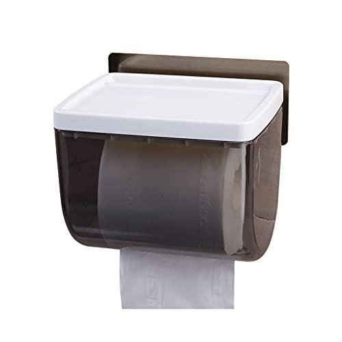 GDSMTG Tenedor de Papel de baño, dispensador de Papel higiénico Montado en la Pared Sin Taladro Titular de Papel higiénico Impermeable Multifunción (Color : White)