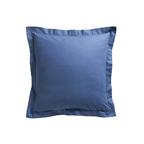 iDiffusion - Juego de 2 fundas de almohada (75 x 75 cm), color azul oscuro