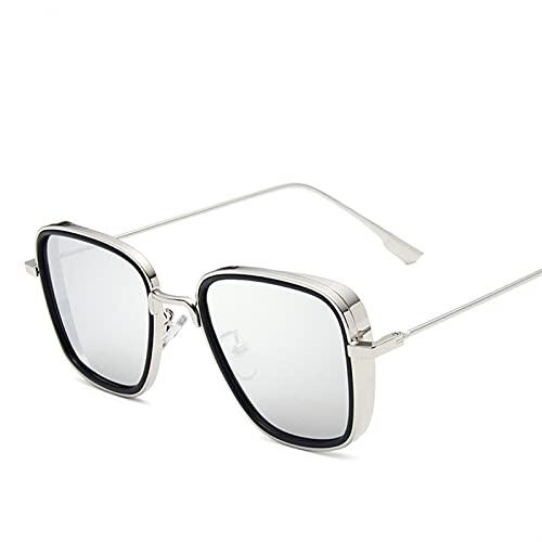 Retro Square Sunglasses Hombres de lujo diseñador de marca Ourdoor Gafas de sol Steampunk Sombrillas Sunglass Red Black Sunglass Mujeres UV400 Gafas de sol polarizadas Hombres geniales para mujer depo