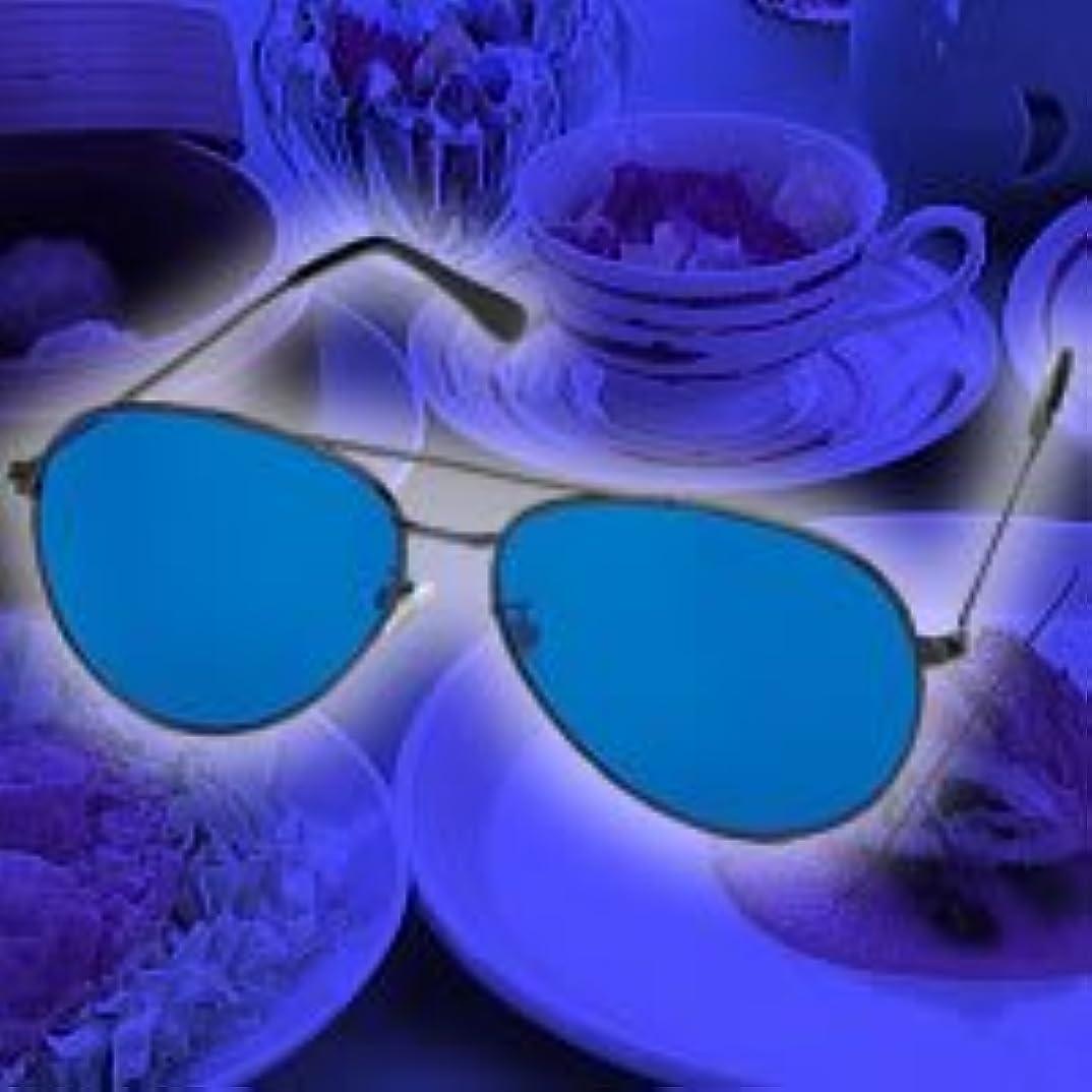 週末モックテレビ局青色ダイエットめがね(青色めがね)食べる5分前に使用でダイエット 青色アイグラス リラックスで食欲を抑える 青色めがねダイエット