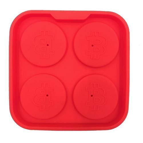 Fiesta 1pièce Moule à Glace Silicone pièces de monnaie Bitcoin Forme 3d ronde Moule à Glace DIY Moules à chocolat Reine des neiges Accessoires de Cuisine Ustensiles de Cuisine # 30 : Rouge