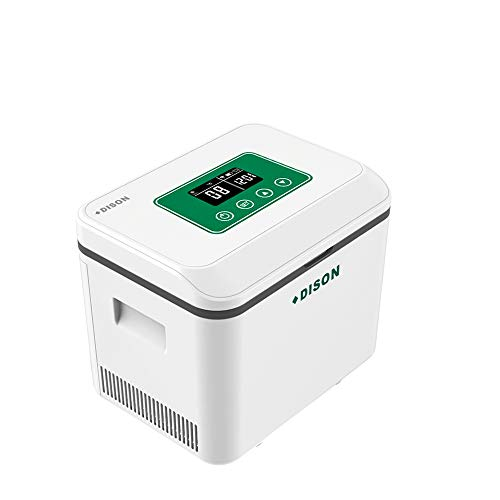 MaquiGra Nevera Portátil Control Remoto App WiFi Caja de Refrigeradora de Medicina Mini Caja de Insulina para Coche Avión Tren Viaje hogar 2-25℃con Temporizador Pantalla LCD Batería 13000mAh