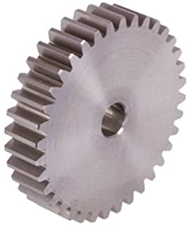 Spur gear made of steel 1.4305 with hub module 2 22 teeth tooth width 16mm outside diameter 48m