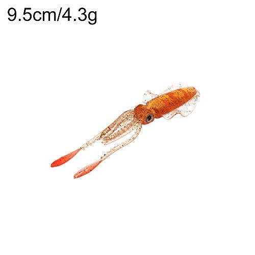 5 Colors Dauerhaft Tragbar Künstlich Weiches Silikon Squid Skirt Lure Salzwasser Octopus Köder Angeln Tackle Langer Schwanz(Color E - 12cm/8.4g)