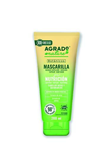 Mascarilla para el pelo 200 ml Nutrición Cosmética Natural Ingredientes Naturales Vegano Botánicos AGRADO Nature