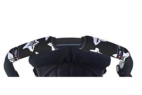 Tris&Ton Fundas empuñaduras horizontal doble Modelo Estrellas, empuñadura funda para silla de paseo cochecito carrito carro (Tris y Ton)