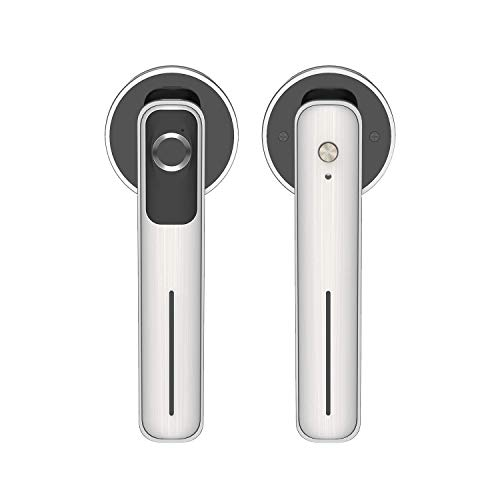 Smart Door Locks, Biometric Fingerprint Door Knobs, Keyless Home Entry, Rechargeable Batteries, for Homes/AirBnB/Apartments/Office/Hotels, Silver