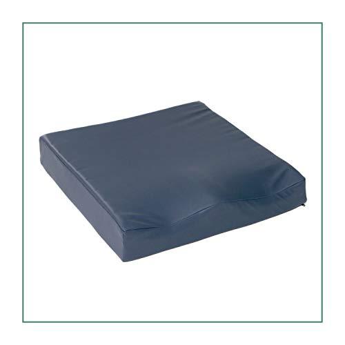 ORTONES | Cojín Antiescaras Viscoelástico | Con funda de PU | Antideslizante | 42x42x8 cm | Hondonada pélvica de 7 cms | Densidad de 80 kg/m³ | Soporta hasta 110 kg de peso