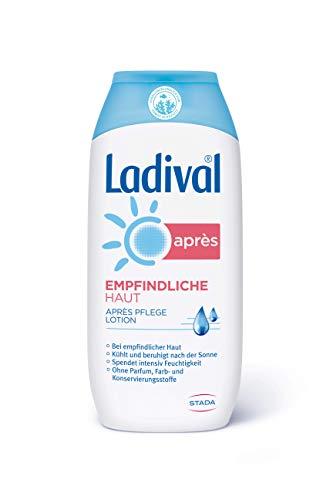 LADIVAL Empfindliche Haut Aprés Lotion - Parfümfreie After Sun Lotion - hautberuhigend, feuchtigkeitsspendend und kühlend - ohne Farb- und Konservierungsstoffe, 200 ml