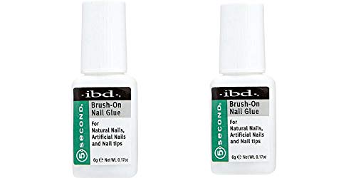 Ibd 5 Second Brush On Nail Glue 54006 / Treatments by IBD (Pack of 2)