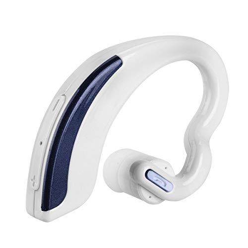 HaiQianXin V18 Universal Bluetooth Wireless Stereo Headset Sportkopfhörer Freisprecheinrichtung (Color : White)